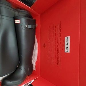 Hunter Boots Tall Matte Black